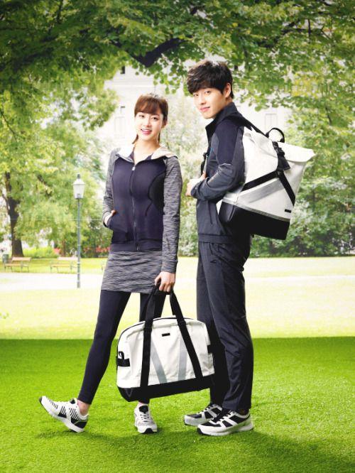 Kang Sora dan Kang Haneul dalam endorsement, Film Waiting For Rain