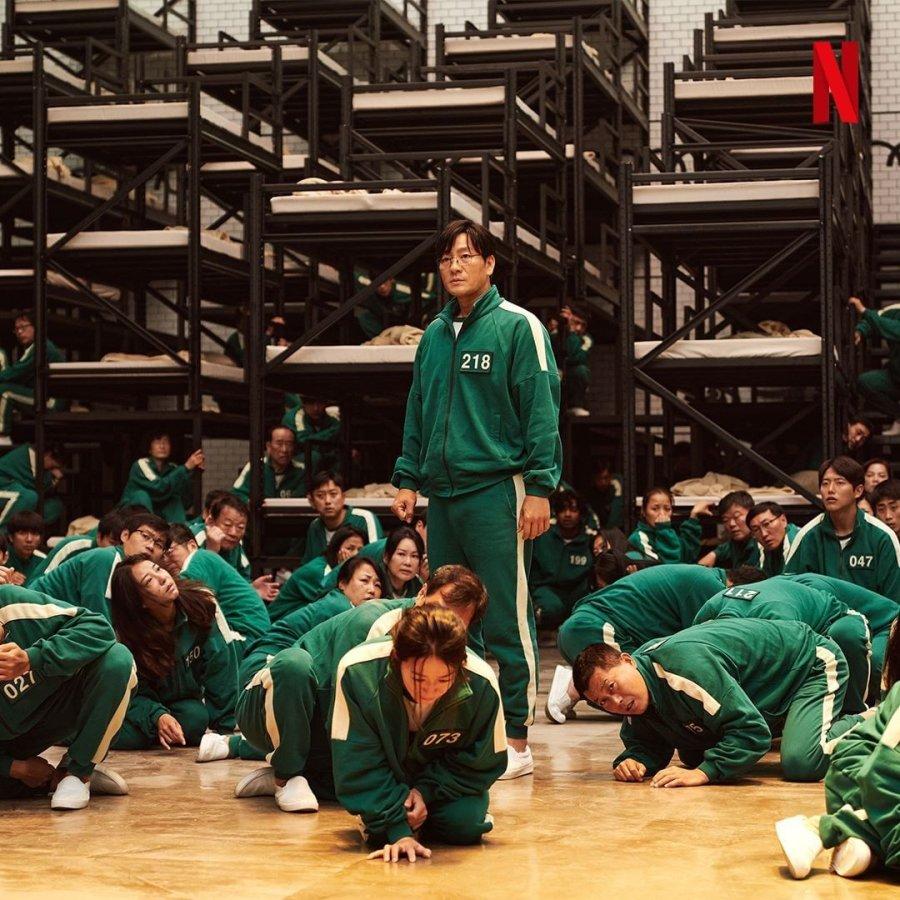 Nonto drama squid game sub indo di Netflix. Drama Serial Netflix. Drama action thriller misteri, Gong Yoo sebagai cameo di Squid Game